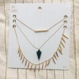 Topshop Gold Boho Necklace set